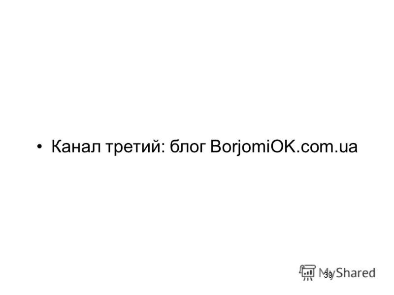 39 Канал третий: блог BorjomiOK.com.ua