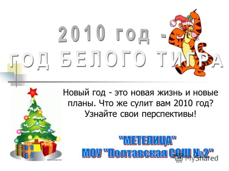 Новый год - это новая жизнь и новые планы. Что же сулит вам 2010 год? Узнайте свои перспективы!