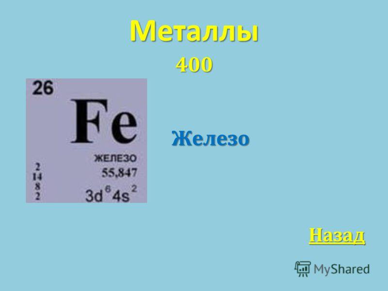 Металлы 400 Железо Железо Назад