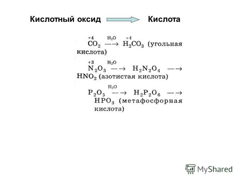 Кислотный оксидКислота