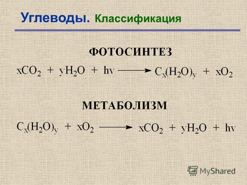 Углеводы. Классификация