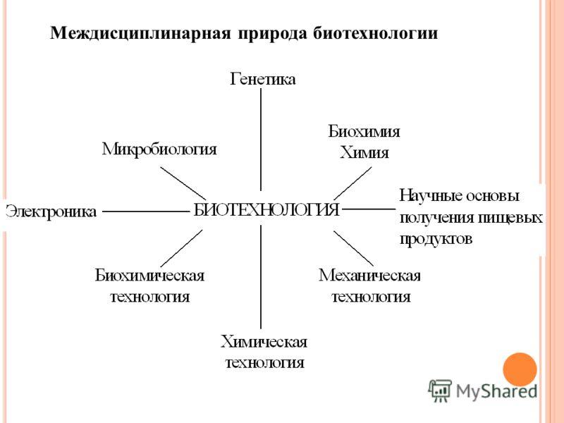 Междисциплинарная природа биотехнологии