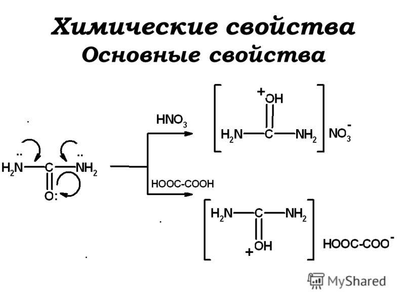 Химические свойства Основные свойства