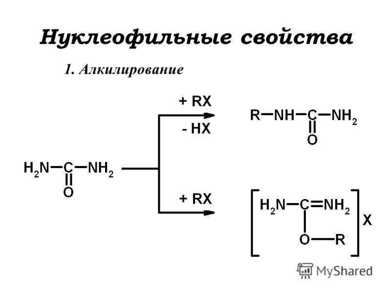 Нуклеофильные свойства 1. Алкилирование