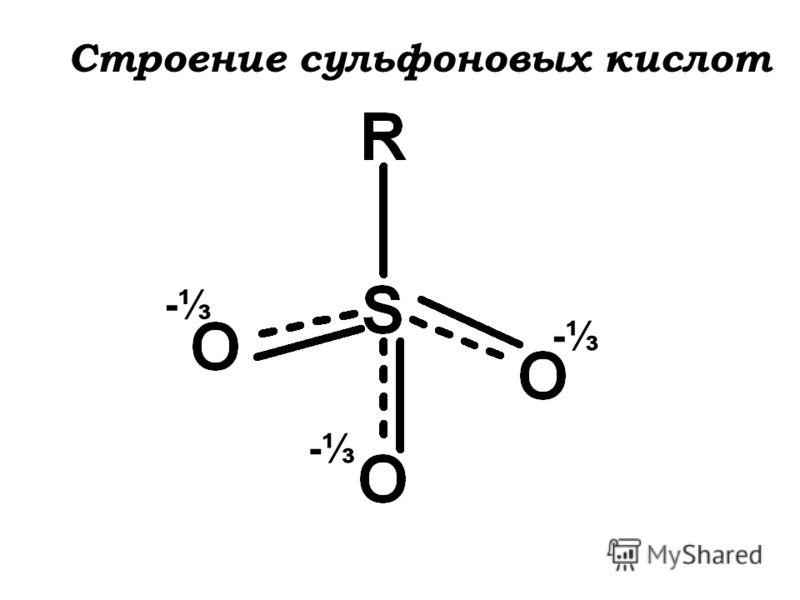 - - - Строение сульфоновых кислот