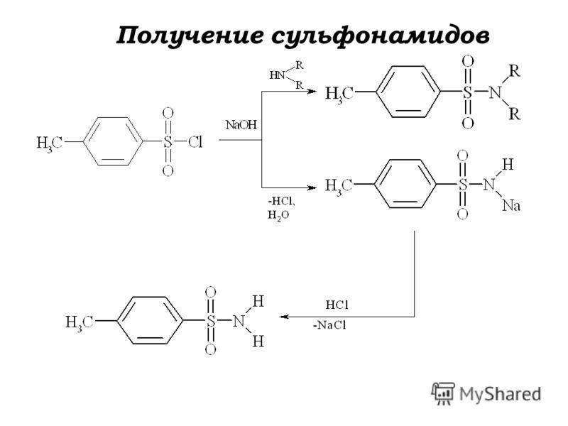 Получение сульфонамидов