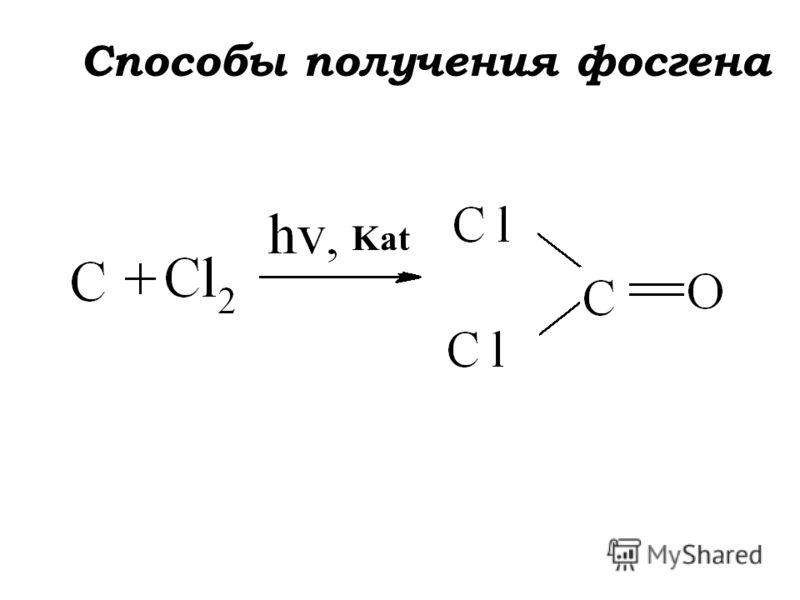 Kat Способы получения фосгена