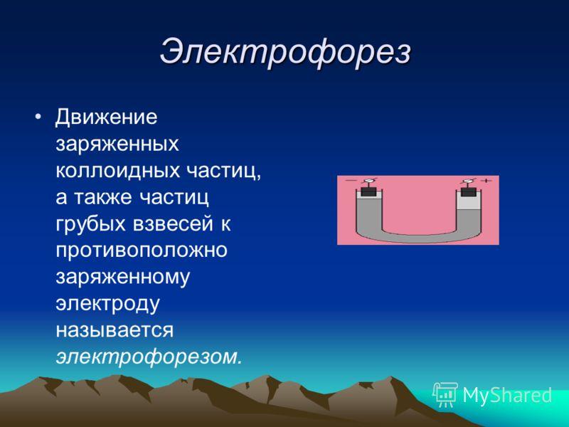 Электрокинетические явления. Это явления, которые базируются на взаимодействии между электрическими и кинетическими свойствами дисперсных систем. Электрокинетические явления это электрофорез и электроосмос.