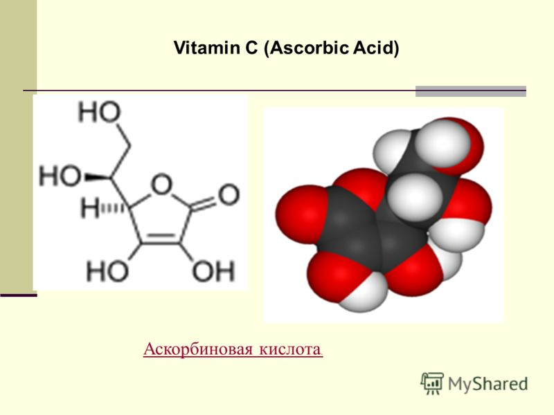 Vitamin C (Ascorbic Acid) Аскорбиновая кислота.