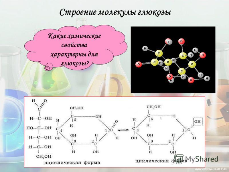 Строение молекулы глюкозы Какие химические свойства характерны для глюкозы?