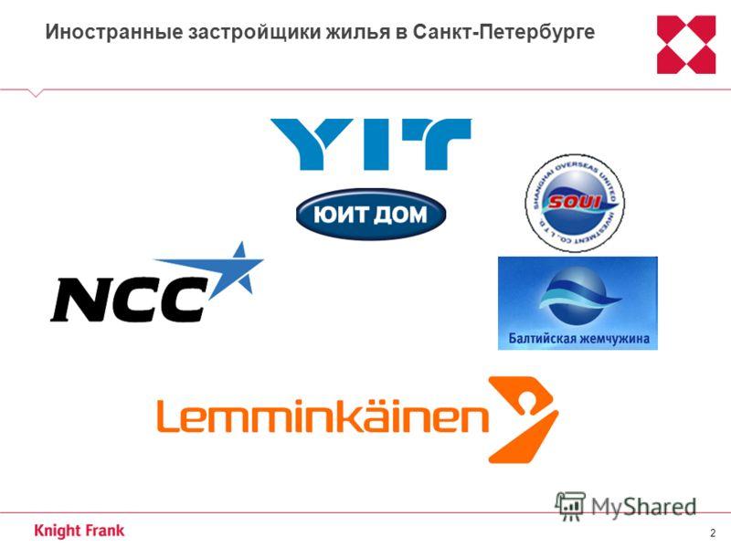 2 Иностранные застройщики жилья в Санкт-Петербурге
