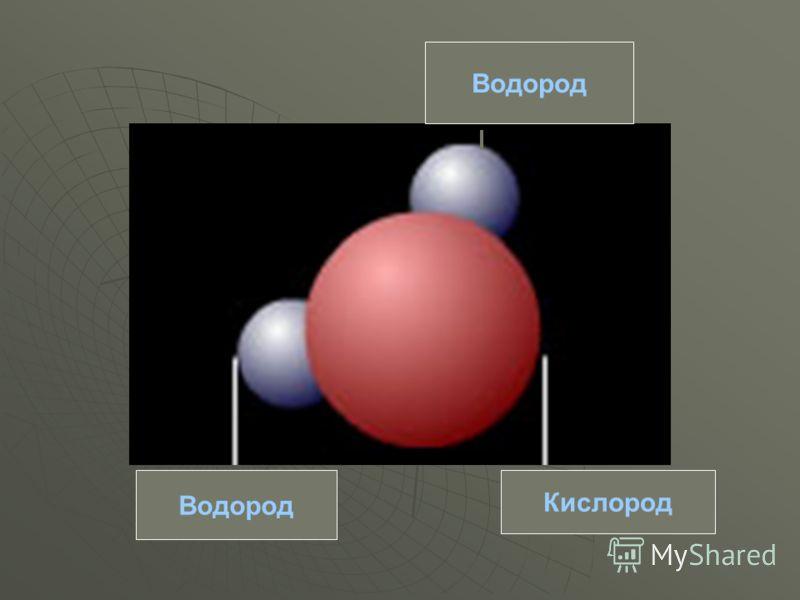 Кислород Водород
