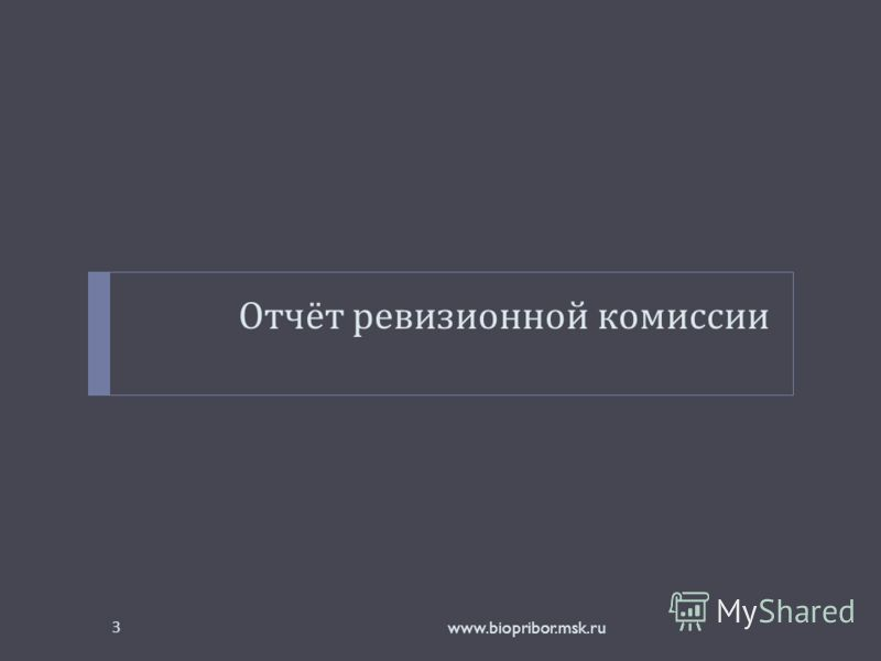 Отчёт ревизионной комиссии www.biopribor.msk.ru3