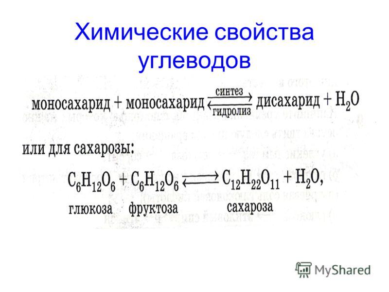 Химические свойства углеводов