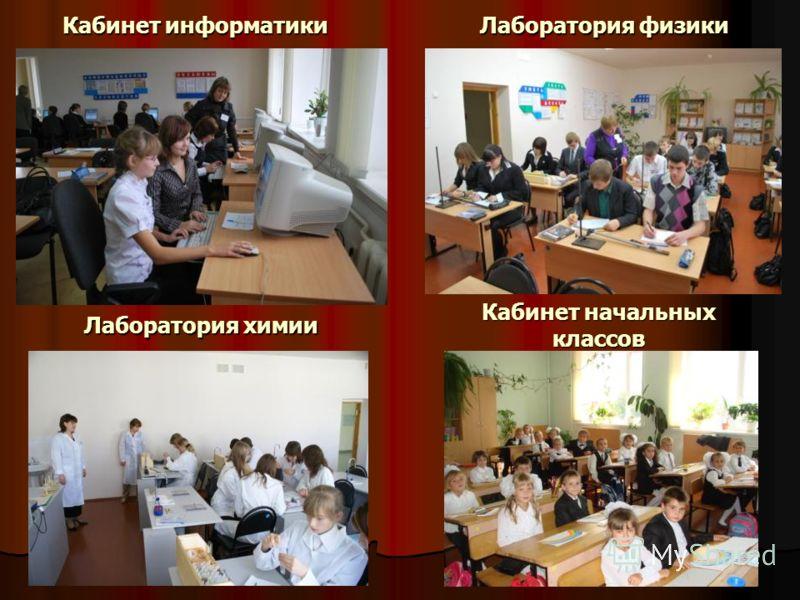 19 Кабинет информатики Кабинет начальных классов Лаборатория химии Лаборатория физики