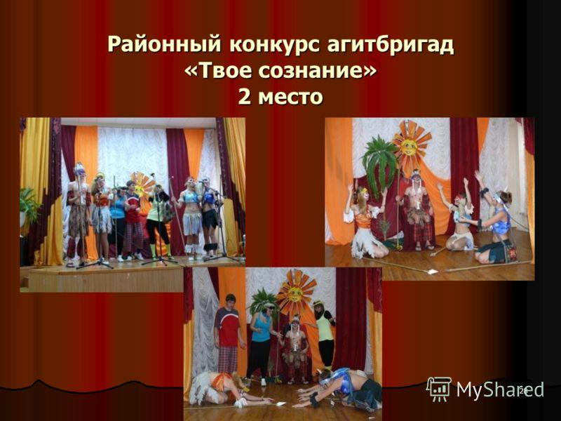 28 Районный конкурс агитбригад «Твое сознание» 2 место