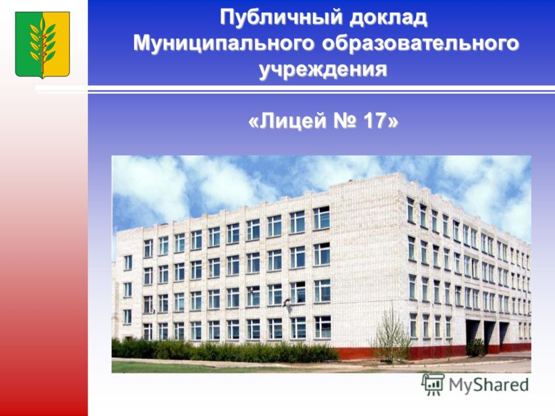 Публичный доклад Муниципального образовательного учреждения «Лицей 17»