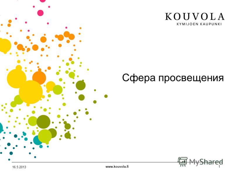 www.kouvola.fi1 16.5.2013 Сфера просвещения