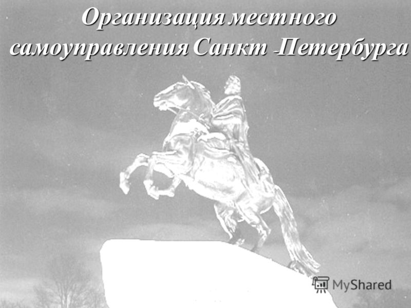 Организация местного самоуправления Санкт - Петербурга