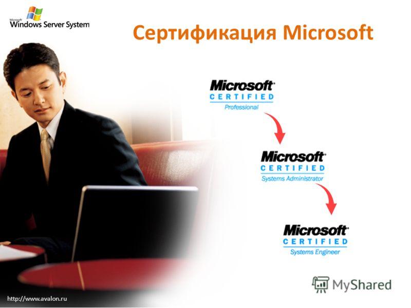 Сертификация Microsoft http://www.avalon.ru