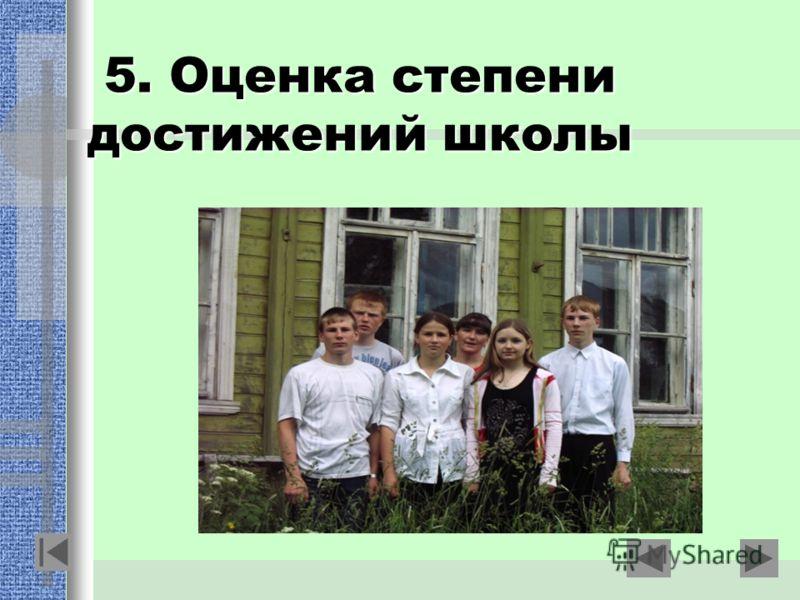 5. Оценка степени достижений школы