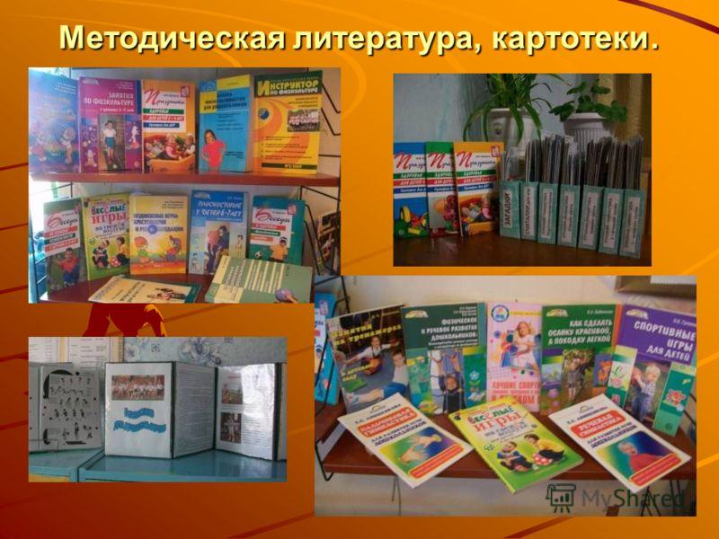 Методическая литература, картотеки.