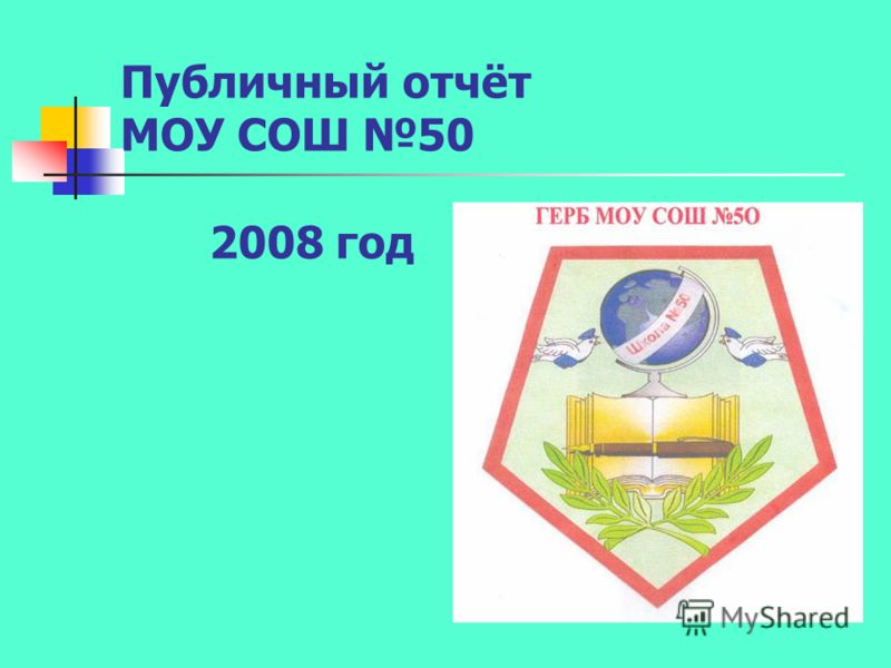 Публичный отчёт МОУ СОШ 50 2008 год