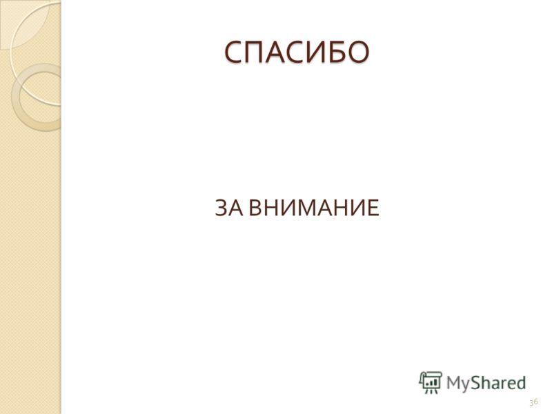 СПАСИБО СПАСИБО ЗА ВНИМАНИЕ 36