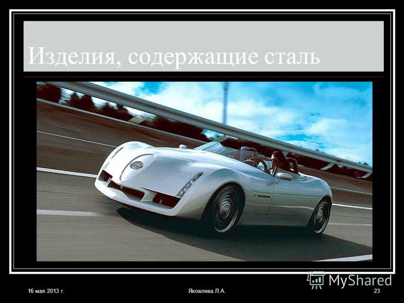 16 мая 2013 г.Яковлева Л.А.23 Изделия, содержащие сталь