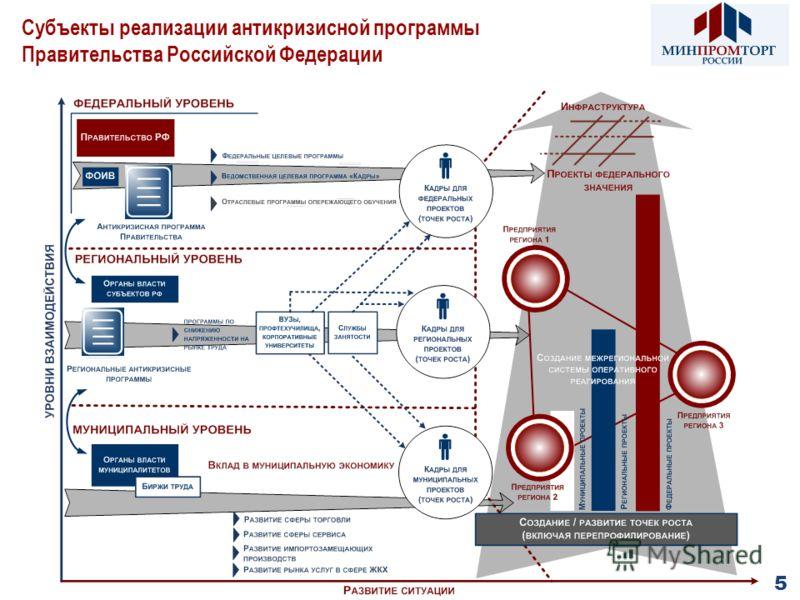 Субъекты реализации антикризисной программы Правительства Российской Федерации 5