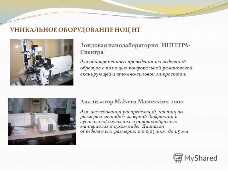 УНИКАЛЬНОЕ ОБОРУДОВАНИЕ НОЦ НТ Зондовая нанолаборатория