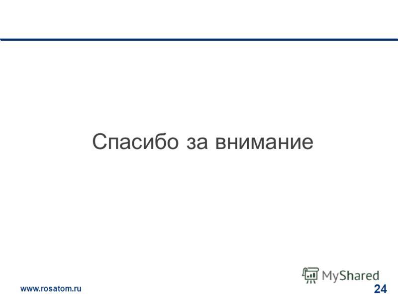 www.rosatom.ru 12 24 Спасибо за внимание