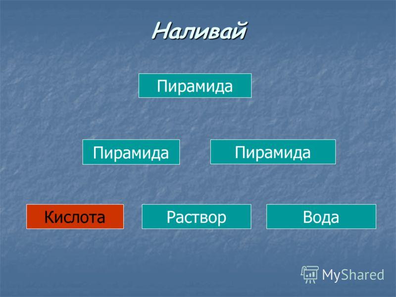 Пирамида КислотаРастворВода Наливай