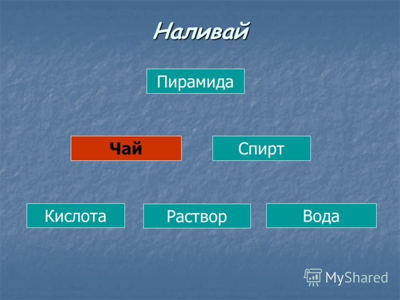 Пирамида ЧайСпирт Кислота Раствор Вода Наливай