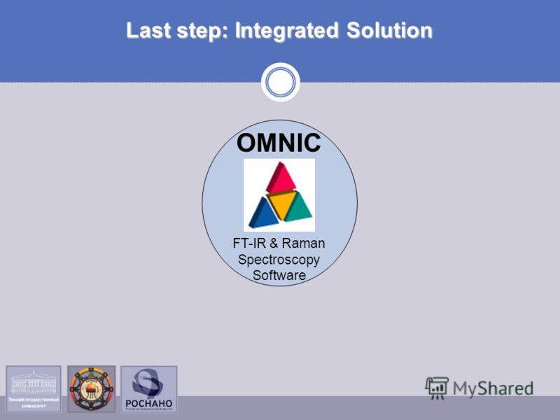Last step: Integrated Solution OMNIC FT-IR & Raman Spectroscopy Software