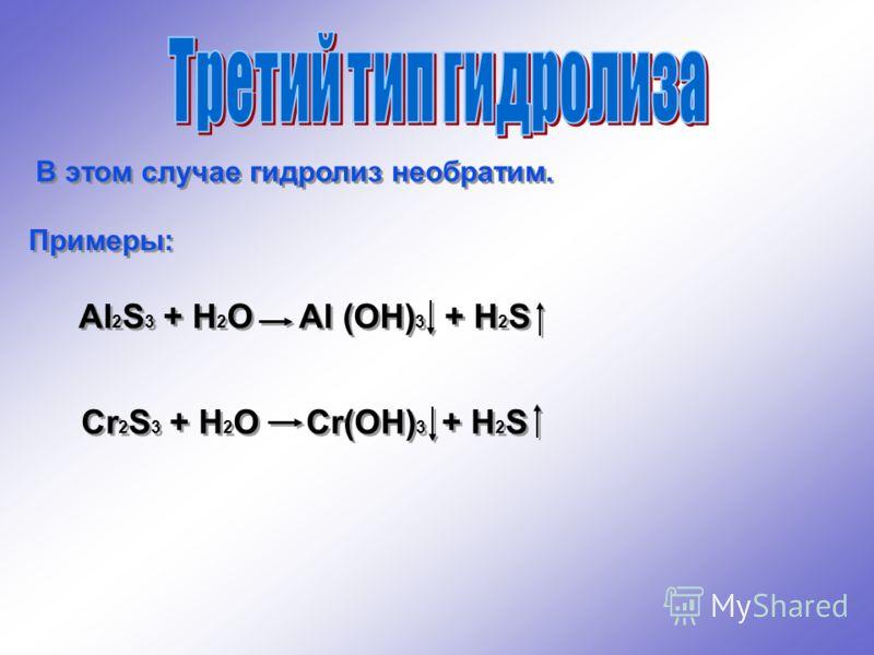 Пример: ZnSO 4 Zn + SO 4 1 ступень: Zn + HOH ZnOH + H 2ZnSO 4 + H 2 O (ZnOH) 2 SO 4 + H 2 SO 4 2 ступень: ZnOH + HOH Zn(OH) 2 + H (ZnOH) 2 SO 4 + 2H 2 O 2Zn(OH) 2 + H 2 SO 4 Образуется кислая среда. ZnSO 4 Zn + SO 4 1 ступень: Zn + HOH ZnOH + H 2ZnSO