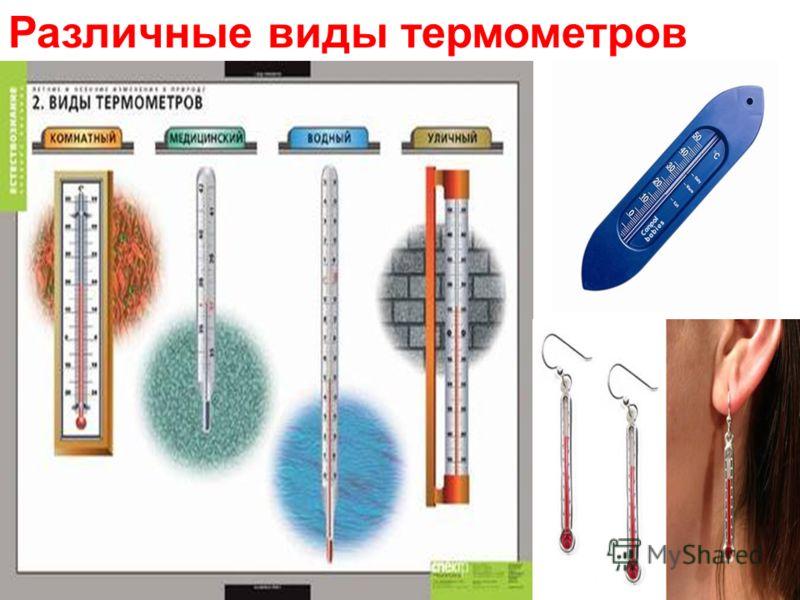 Различные виды термометров