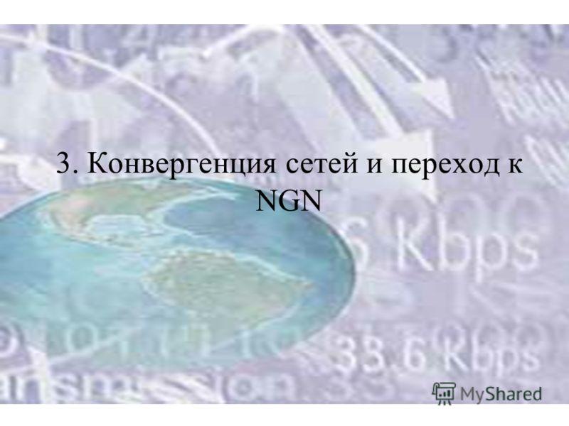 3. Конвергенция сетей и переход к NGN