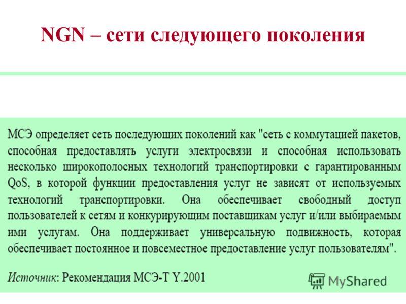 NGN – сети следующего поколения ССП,