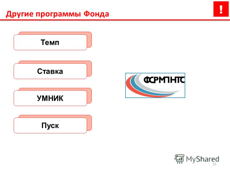 15 Другие программы Фонда ТемпСтавкаУМНИКПуск