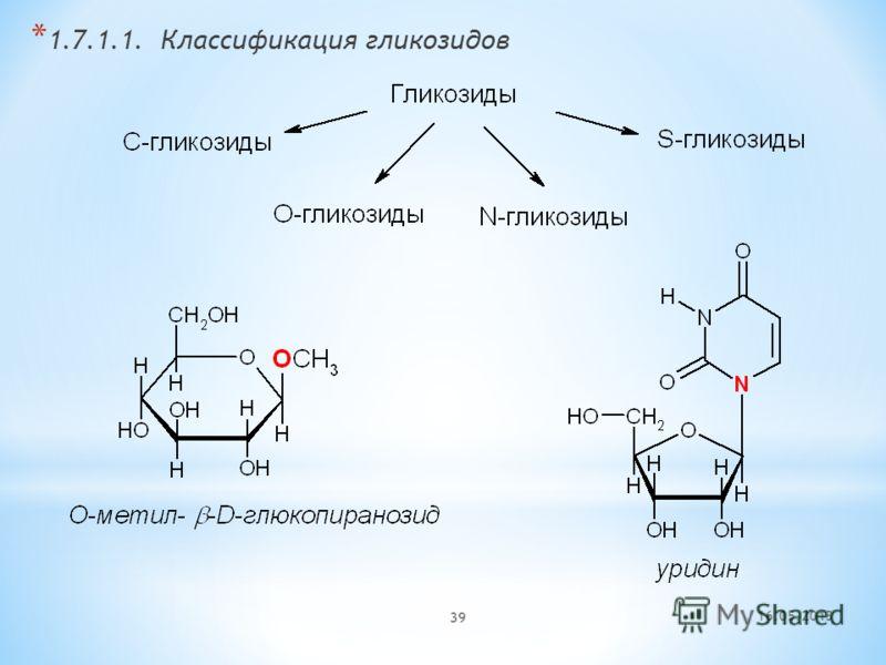 16.05.2013 39 * 1.7.1.1. Классификация гликозидов