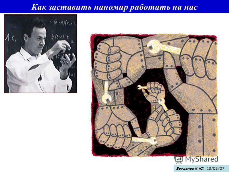 Как заставить наномир работать на нас Богданов К.Ю., 13/08/07