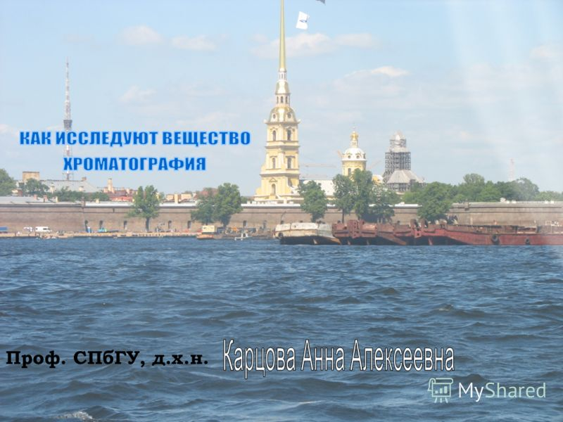 16.05.2013* Проф. СПбГУ, д.х.н.