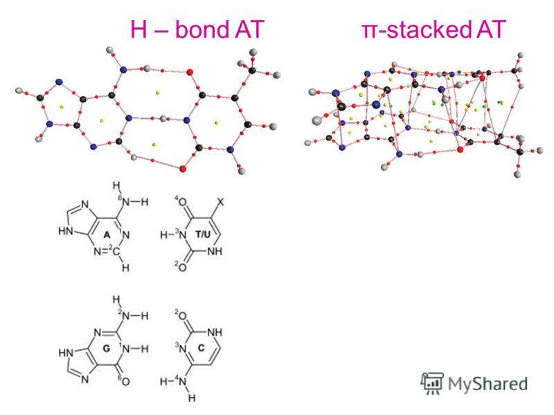 Н – bond ATπ-stacked AT