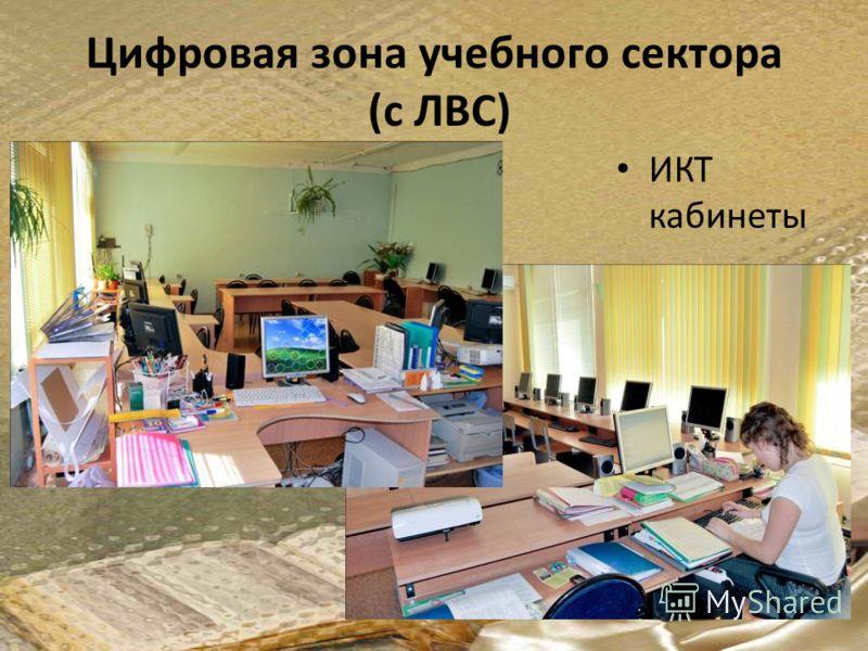 Цифровая зона учебного сектора (с ЛВС) ИКТ кабинеты