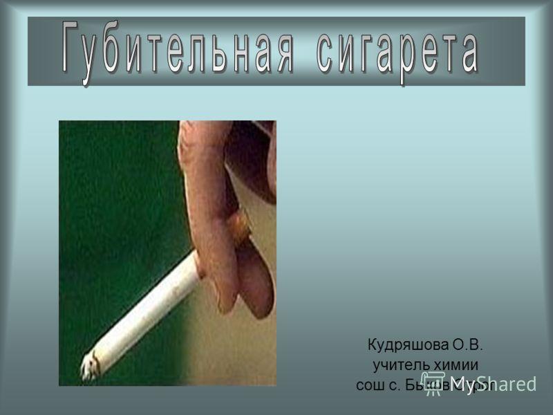 Кудряшова О.В. учитель химии сош с. Быков Отрог