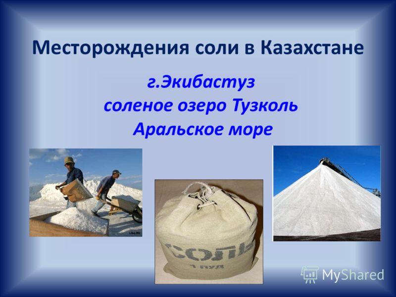 Месторождения соли в Казахстане г.Экибастуз соленое озеро Тузколь Аральское море