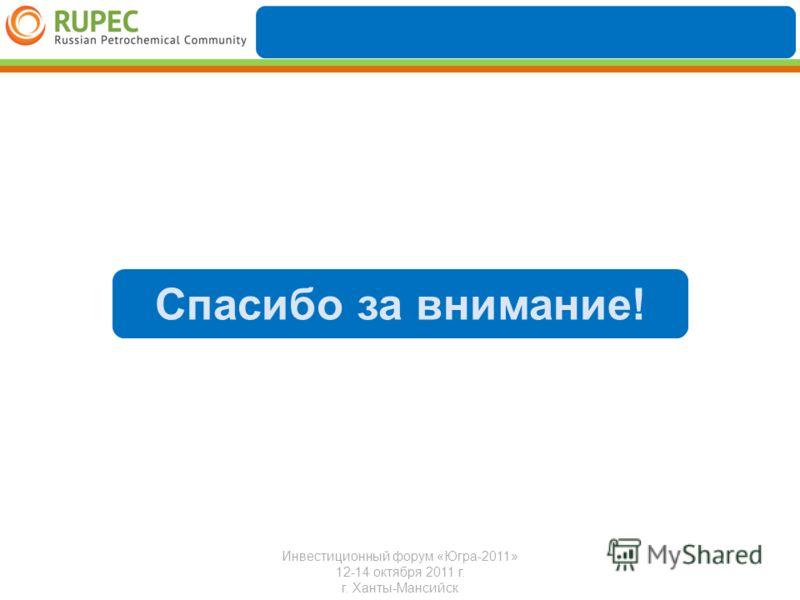 Инвестиционный форум «Югра-2011» 12-14 октября 2011 г. г. Ханты-Мансийск Спасибо за внимание!