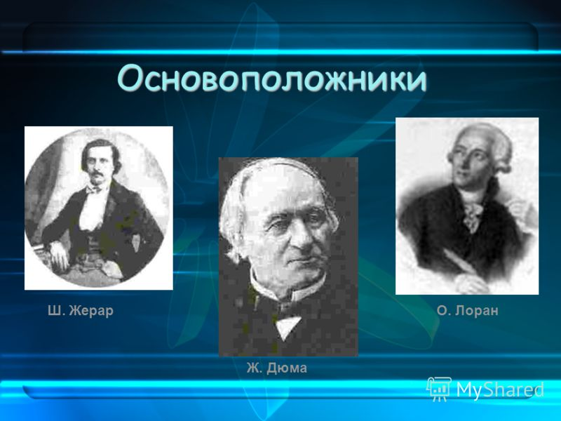 Основоположники Ш. Жерар Ж. Дюма О. Лоран