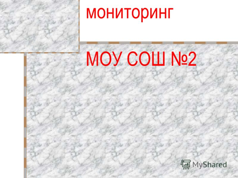 Школьный мониторинг МОУ СОШ 2